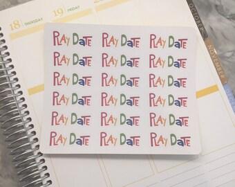 Play Date Planner Stickers   Erin Condren   PlumPaperPlanner   Kikki K   Happy Planner