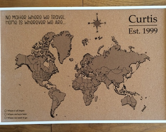 Custom Cork USA Map US Map Push Pin Travel Map Map USA - Us travel map on cork board