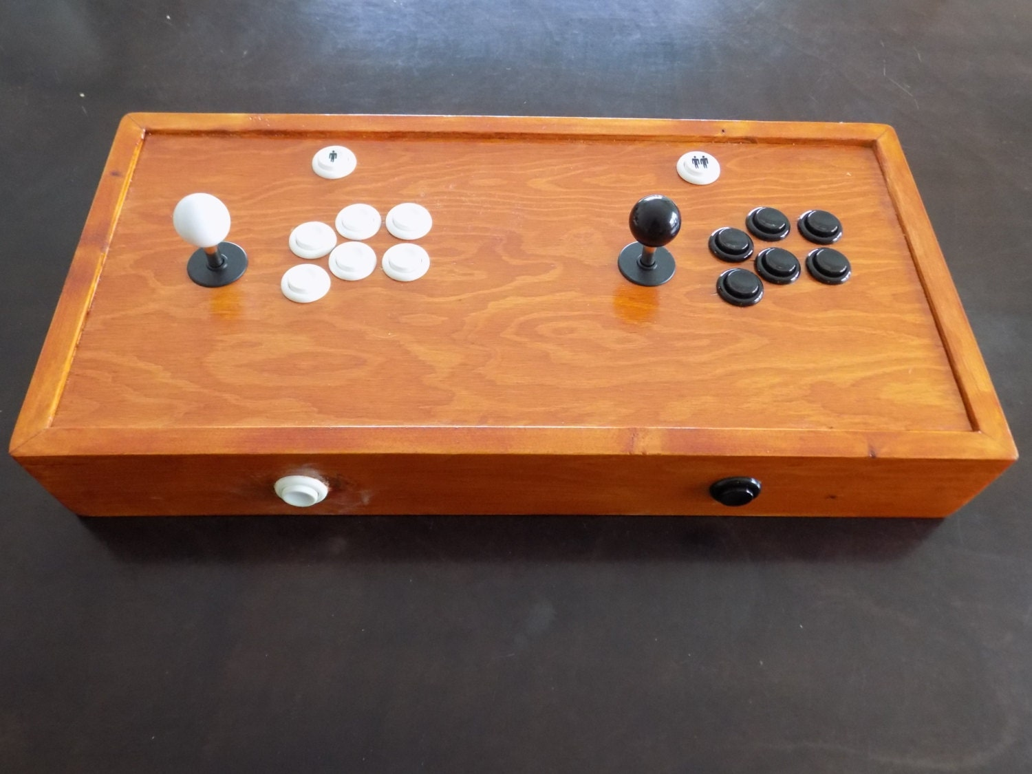 Custom Wood Retro Arcade 2 player controller with Raspberry PI