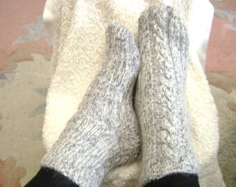 Knitting socks and Slippers for men and women for warmth and comfort