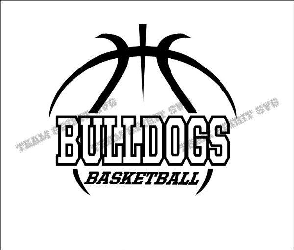 bulldogs basketball outline download files svg dxf eps
