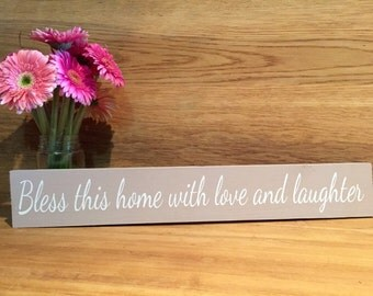 Bless this home Decorative wood sign