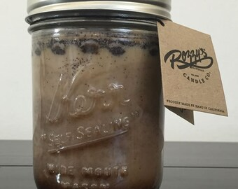 16 oz Morning Cup of Joe Vegan Candle with Wood or Cotton Wick Kerr Mason Jar