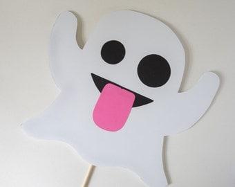 Ghost Emoji Mask / Photo Booth Prop / Emoji Prop / Mask Prop / Ghost / Handmade / Photobooth