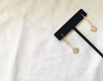 Gold Filled CZ Earrings