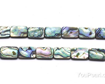 6x8mm abalone shell, natural rectangle shape paua shell full strand beads, loose beads for jewelry making, ABA1006