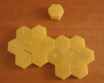 Hexagon Beeswax Tealights| 15 Pack - Free Shipping