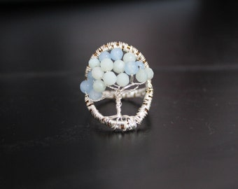Tree of life wire wrapped ring
