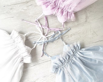 Sophie Double layer Tutu Dress - pink white blue baby dress- flower girl Tutu dress- flower tutu dress- pageant tutu dress- pageant dress
