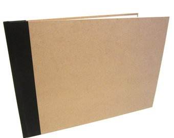 A3/A5 Landscape Scrapbook, Display Book, Sketchbook, Perfect Bound, Large Kraft