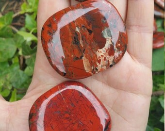 Brecciate Jasper Palm Stone - 1 Medium - Balances the Yin Yang, Teaches the Love Language to Connect With All Sentient Beings