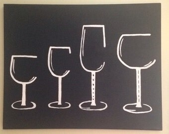 Wine canvas painting