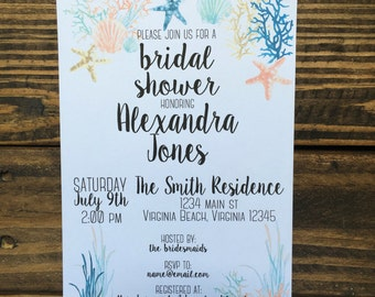 Nautical Themed Bridal Shower Invitation