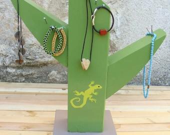 """Decoration wood, door-jewelry """"Cactus flower"""""""