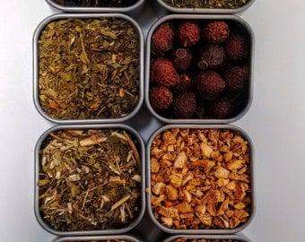 Energy Herbal Tea Set (invigorating loose tea, stimulant)