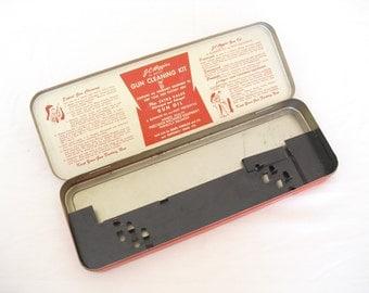 Vintage J C Higgins Tin, Sears, Roebuck, Metal Storage Container, Metal Utility Box, Garage Tool Storage, Red Metal Box, Replacement Box