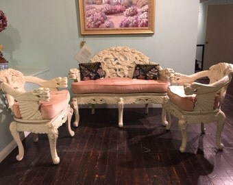 Chinese setee Sofa and  2 Chairs