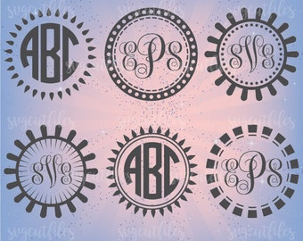 Circle Monogram Frame SVG - SVG Cut File - Cricut, Silhouette Studio cutting file, Instant Download