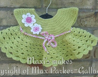 Cute little spring coloured baby dress.