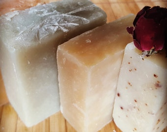 Choose any 2 bars of handmade soap, all natural soap with shea butter, cold process soaps with vegan options