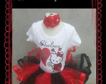 Hello kitty tutu outfit birthday set