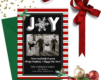 Joy Christmas Photo Card; Holiday Cards; Photo Christmas Cards; Photo Holiday Cards; Christmas Card Photo; Holiday Photo Cards