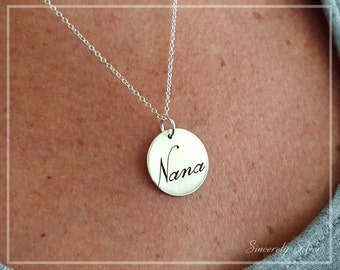 Nana Necklace, Nana Jewelry, Gift For Nana, Nana Pendant, Nana Charm Necklace, Grandma Necklace, Nana Gift