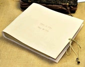 Handmade by white cowhide leather wedding Guest Books  Custom GuestBook for Wedding,anniversary gifts,Retro books