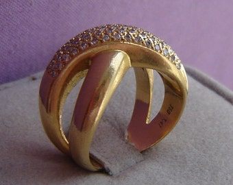 Exclusive band ring - 750er Gelbgold - 60 of brilliant 1, 47 ct - 14 grams - size 61