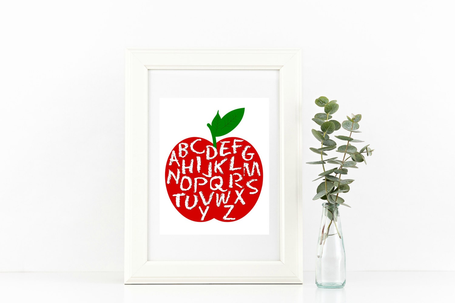Teacher Classroom Wall Decor ~ Teacher gift alphabet wall art classroom printable