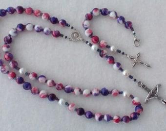Splash of Purple Rosary and Pocket Rosary
