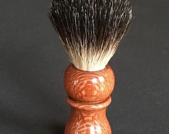 Handmade shaving brush, Leopard wood