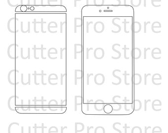 iPhone 6 and 6s Front and Back Skin Template (SVG File)