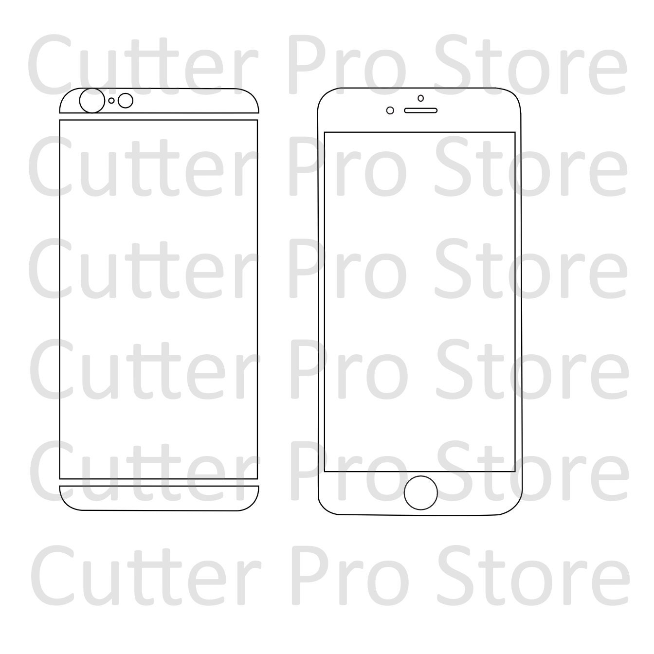 Iphone 6 and 6s front and back skin template svg by for Iphone cut out template
