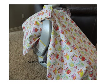 Custom Car Seat Canopy & Nursing Cover *SHIPS FREE in USA*