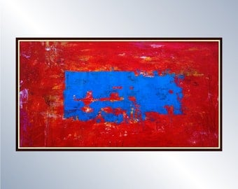 Abstract Art (Urban Abstract Painting) Modern Abstract Canvas Art Ready to hang: Oil & Acrylic Abstract Painting, Original Canvas Painting