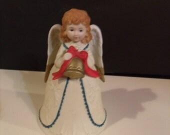 Vintage Homco Christmas Angel Bell 1970's,(# 435/15)