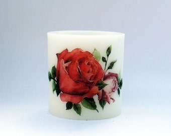 BloomLight Wax Lantern Hurricane - Floral 3