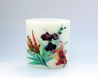 Bloomlight Wax Lantern Hurricane - Floral 4