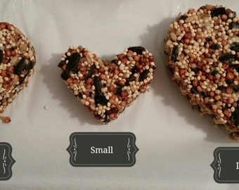 50 Heart Shaped Birdseed Favors