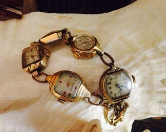 Unusual Bracelet made from Vintage Watches