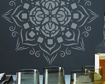 Wall Stencil Rose Window 010