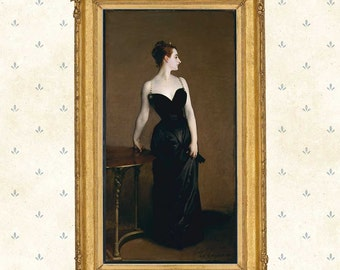 Portrait of Madame X by John Singer Sargent ,1883.Famous painting, American artist, Wall Art Print, Giclee copy, Poster print.