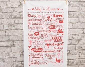 Being in Love - Tea Towel