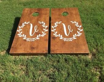 Custom Wedding Cornhole Board