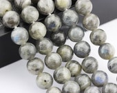 2.0mm Large Hole Smooth Labradorite Gemstone Round Loose Beads 8mm/10mm Approximate 15.5 Inches per Strand.R-S-L-LAB-0443