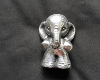 Polished and Decorated Indian Elephant, Desk/Shelf Ornament,/Paper Weight.