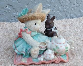 "Vintage Enesco's "" A spot of tea for you & me."" Figurine"
