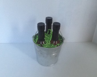 Organic Hot Sauce Bucket Gift Set Jalapeño Chipotle  & Salsa Verde Great for Parties, Grilling, Cookouts, Dipping