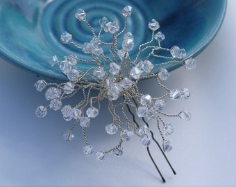 Crystals Hair Pins Bridal Hair Pins Swarovski Hair Accessories Wedding Headpiece Crystal Hair Vine Wedding Hair Vine Swarovski Cluster Clips